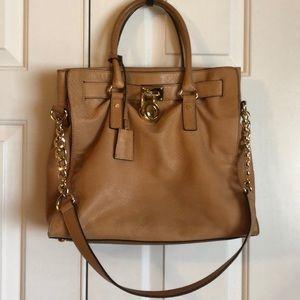 Michael Kors camel snake embossed purse